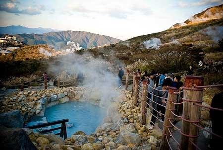 تخم مرغ های دره اواکودانی,دره Owakudani,دره ی جوشان در ژاپن